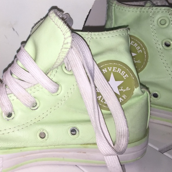 Converse Other - Girls Neon Converse Sneakers